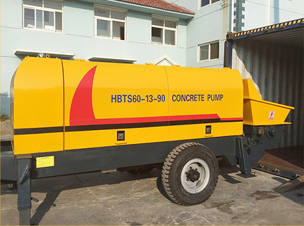 HBTS60 diesel concrete pump has been transported to Philippines