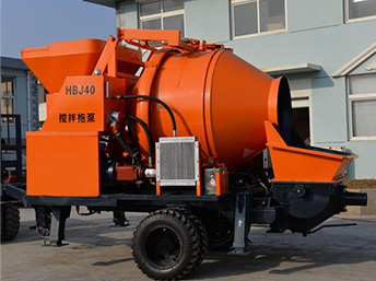 Aimix exported JBS40 electric concrete mixer with pump to Pakistan
