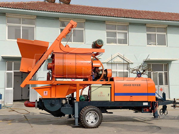 cement mixer with pump