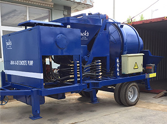 Our JBS30 electric concrete mixer pump was exported to Russia