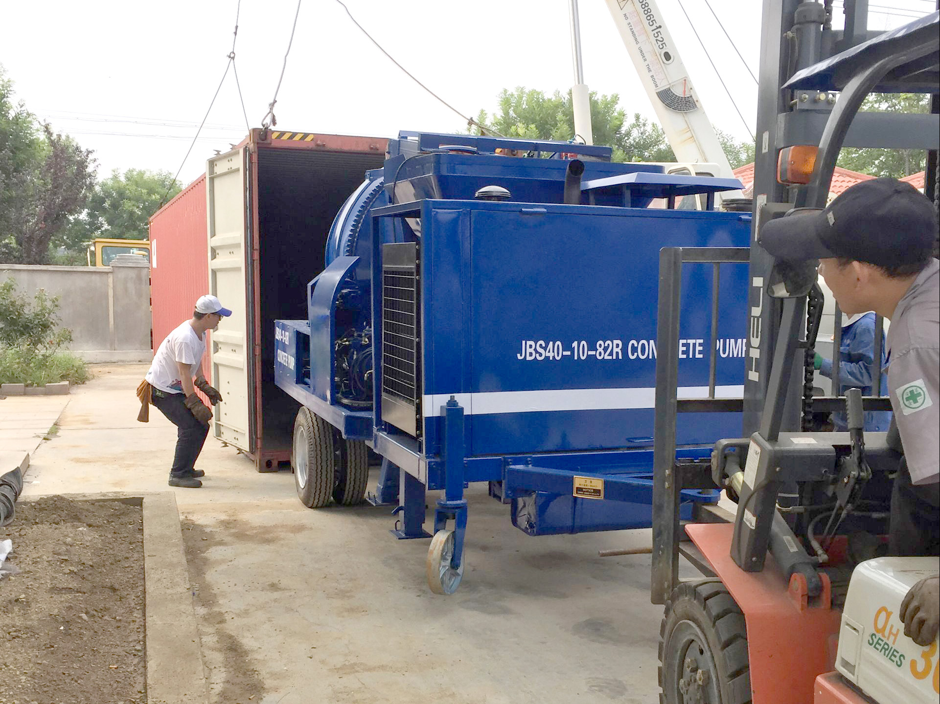 Our portable concrete mixer and pump was exported to Fiji