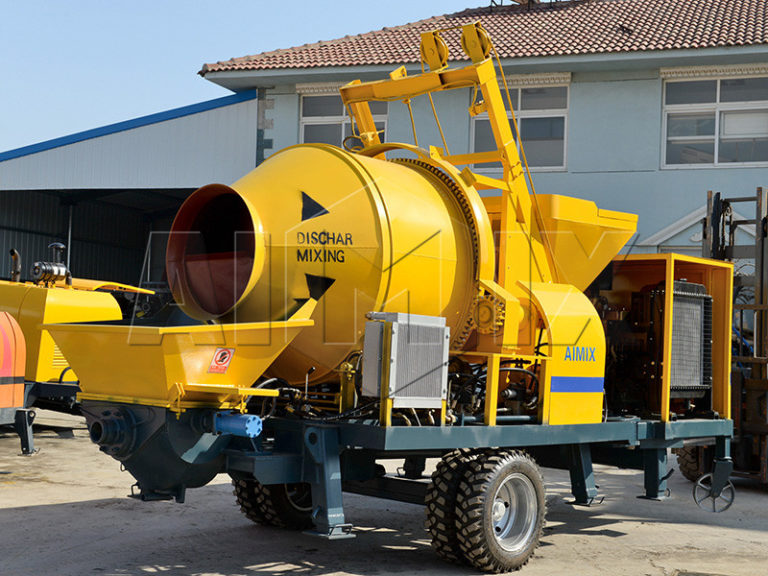 small concrete mixer with pump for sale