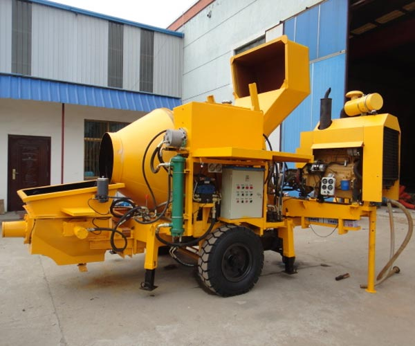 concrete mixing and pumping machine