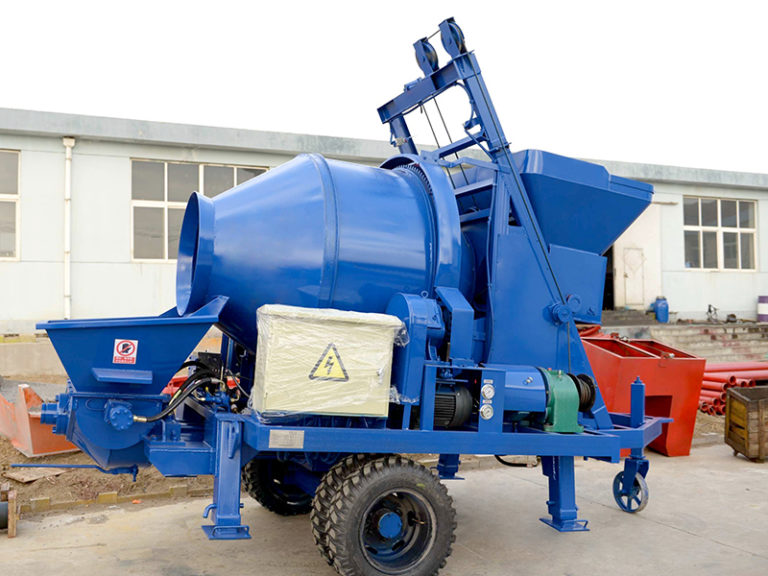concrete mixers with pump