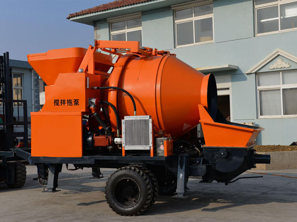 Electric-concrete-mixer-pump
